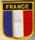 France Embroidered Flag Patch, style 07.